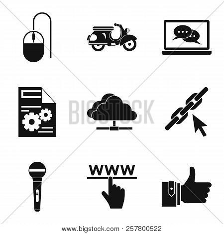 Wirelessly Icons Set. Simple Set Of 9 Wirelessly Icons For Web Isolated On White Background