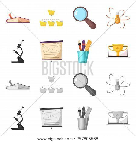 Vector Design Of Education And Learning Logo. Set Of Education And School Stock Vector Illustration.