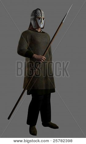 Saxon Warrior Chieftain with Spear
