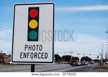 Photo Enforced Traffic Lights
