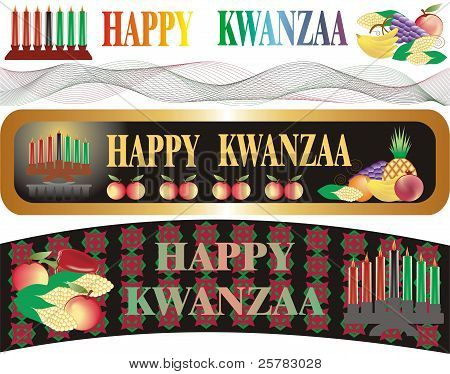 Kwanzaa Banner In Vector