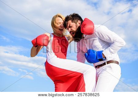Pursue Course Of Self Defence. Attack Is Best Defence. Defend Your Opinion In Confrontation. Man And