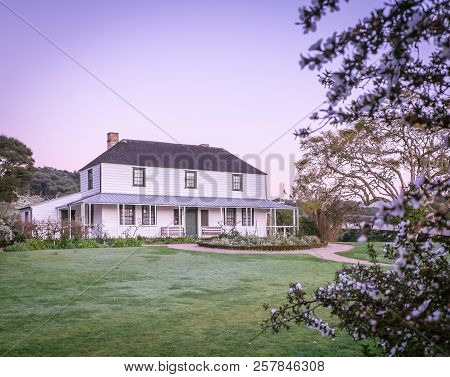 Mission House, Also Known As Kemp House, Is New Zealand's Oldest Building. Photographed At Dawn At K