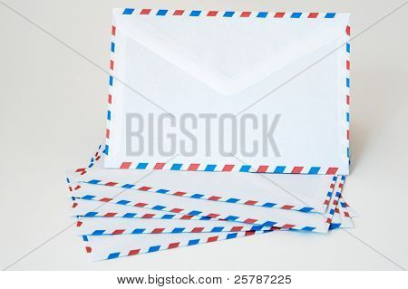 letters to send to the postal service of post office