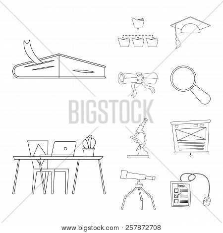 Vector Illustration Of Education And Learning Logo. Set Of Education And School Stock Symbol For Web