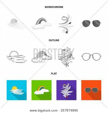 Vector Design Of Weather And Weather Sign. Collection Of Weather And Application Stock Vector Illust