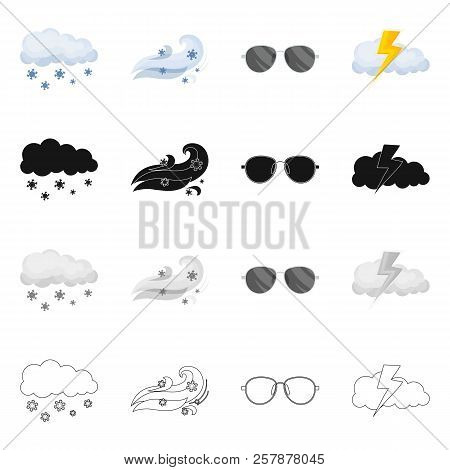 Vector Illustration Of Weather And Weather Icon. Set Of Weather And Application Stock Symbol For Web