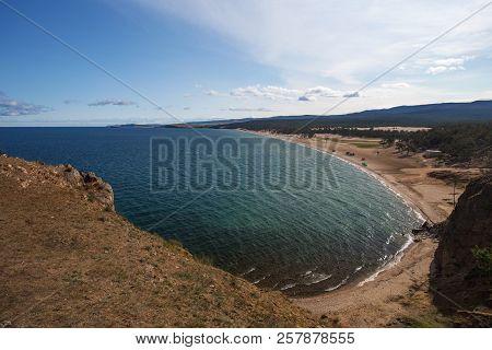 Baikal Lake Near Khuzhir Villahe At Olkhon Island In Siberia, Russia.