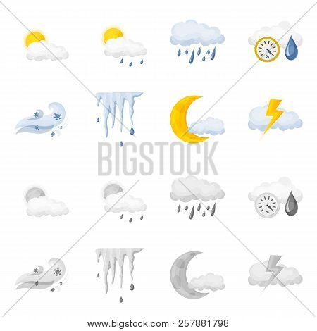 Isolated Object Of Weather And Weather Icon. Set Of Weather And Application Vector Icon For Stock.