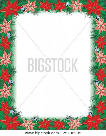 Poinsettia Frame 4.25x5.25