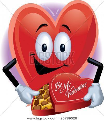 Heart Man with Box of Chocolates