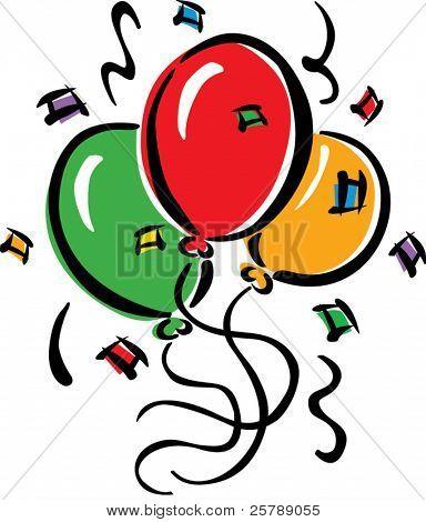 Vector balloon spot illustration