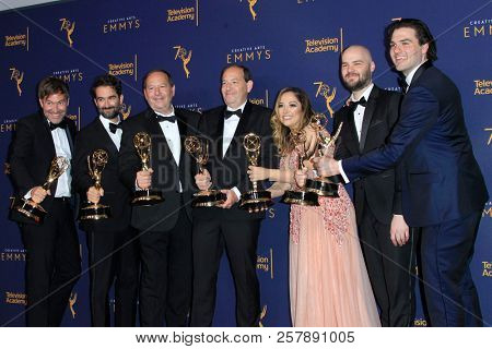 LOS ANGELES - SEP 9:  Wild Wild Country, Crew at the 2018 Creative Arts Emmy Awards - Day 2 - Press Room at the Microsoft Theater on September 9, 2018 in Los Angeles, CA