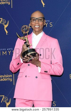 LOS ANGELES - SEP 9:  RuPaul Andre Charles at the 2018 Creative Arts Emmy Awards - Day 2 - Press Room at the Microsoft Theater on September 9, 2018 in Los Angeles, CA