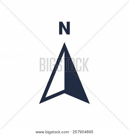 North Arrow Icon Or N Direction And Navigation Point Symbol. Vector Logo For Gps Navigator Map Isola