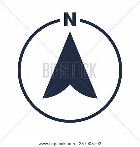 North Arrow Icon Vector & Photo (Free Trial) | Bigstock