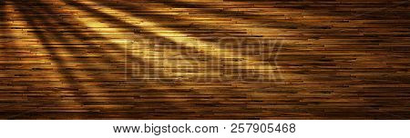 The Dark Wood Texture With Sunlight. Nice Background
