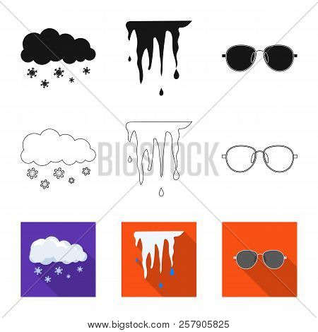 Isolated Object Of Weather And Weather Sign. Set Of Weather And Application Stock Vector Illustratio