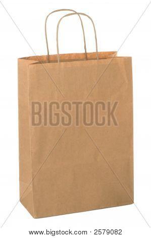 Bolsa de papel comercial.
