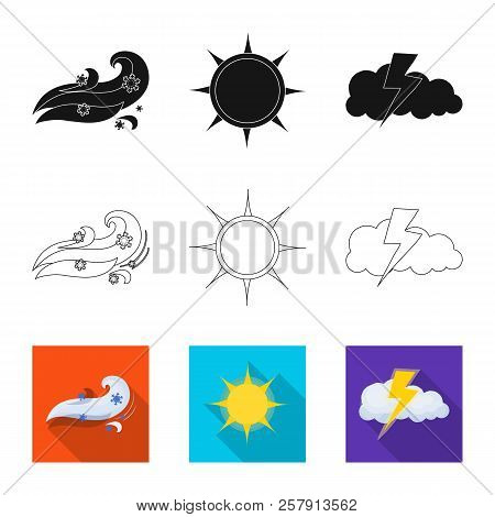 Isolated Object Of Weather And Weather Logo. Set Of Weather And Application Stock Vector Illustratio