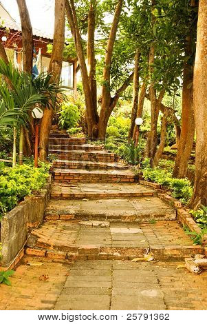 Stairway in the Phromthep cape