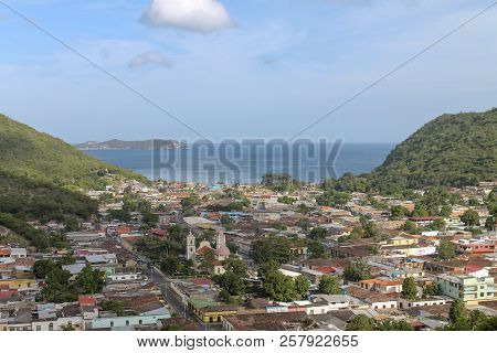 View Of The Town Of Rio Caribe In Venezuela