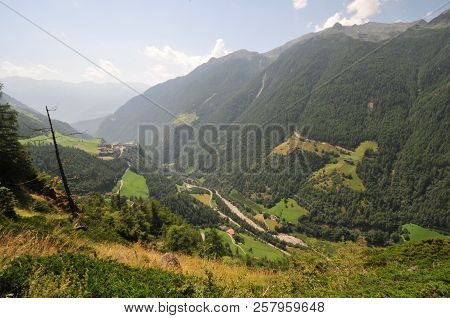 Summit  Rock Panorama Landscape Of The Mountains In South Tyrol Italy Europe