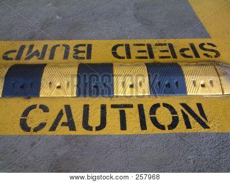 Speed Bump - Caution