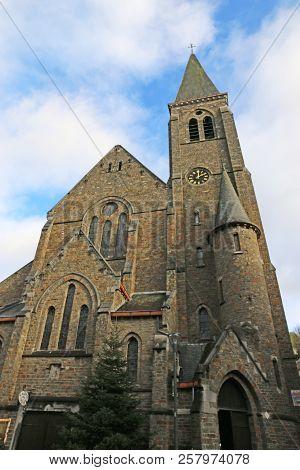 La Roche En Ardenne Church In The Ardennes, Belgium