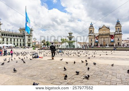 Guatemala City, Guatemala -  September 5, 2018: Presidential Palace Called National Palace Of Cultur