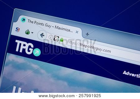 Ryazan, Russia - September 09, 2018: Homepage Of The Points Guy Website On The Display Of Pc, Url -
