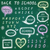 Hand-drawn speech bubbles,Back To School illustration poster