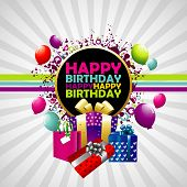 Happy Birthday colorful background. poster