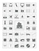 vector icons for web applications. business, computers, finance. poster