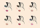 vector make up styles poster