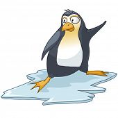 Cartoon Character Penguin Isolated on White Background. Vector. poster
