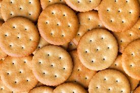 Closeup View Of Many Crisp Crackers As Background Texture