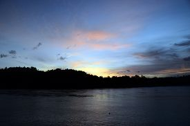 Sunset On Rubiah Island, From Bungalow In Pulau Weh Island, Sumatra, Indonesia