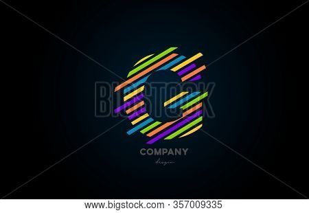 Colours Alphabet G Letter Logo Icon Design For Business And Company