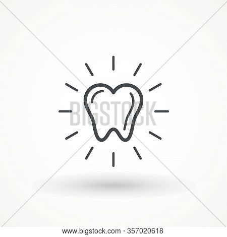 Tooth Healthy Icon, Editable Strok Clean Tooth, Dentistry Symbol, Care, Dentist Icon, Medical Sign,