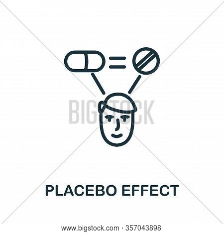 Placebo Effect Icon From Alternative Medicine Collection. Simple Line Placebo Effect Icon For Templa