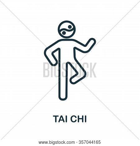 Tai Chi Icon From Alternative Medicine Collection. Simple Line Tai Chi Icon For Templates, Web Desig