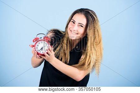 Enjoying Leisure Time. Regime Early Awakening. Bell Is Ringing. Good Morning. Woman Being Late. Busi