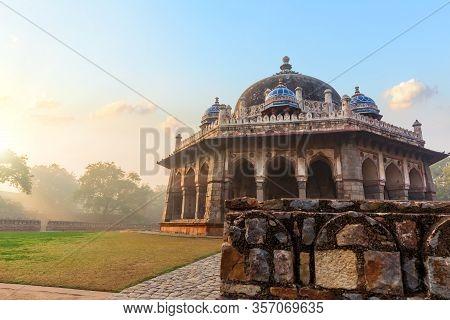 Tomb Of Isa Khan, The Humayuns Tomb Garden, India, New Delhi