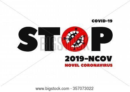 Covid-19 Coronavirus Design Logo. Coronavirus Covid-19 Virus Symbol. Covid-19. Icon. Novel Coronavir