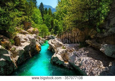 Great Rafting And Kayaking Place In Europe. Majestic Nature Place With Kayaking Destination. Stunnin