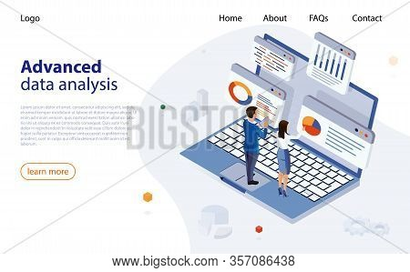 Data Analysis Design Concept. Business Data Analytics Process Management. Analysts Work, Conduct Dat
