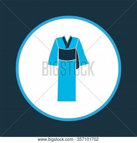 Kimono Icon Colored Symbol. Premium Quality Isolated Karate Element In Trendy Style.