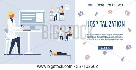 Patients Hospitalization And Medical Assistance Services. Patients Placement And Accommodation In Me