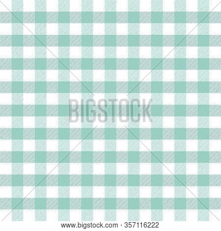 Easter Tartan Plaid. Scottish Pattern In Green And White Cage. Scottish Cage. Traditional Scottish C